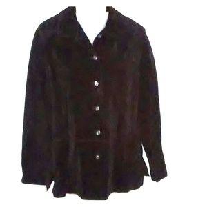Black Valerie Valerie Stevens Suede Leather Jacket